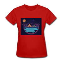 Camping on the Lake - Women's - red