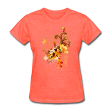 Swirls with Butterfly - Women's - heather coral