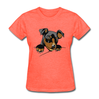 Cat in a Pocket - Women's - heather coral