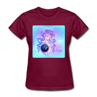 Virgo Lady on Blue - Women's - burgundy