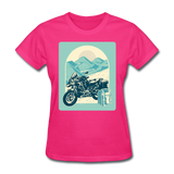 Motorcycle in the Mountains - Women's - fuchsia