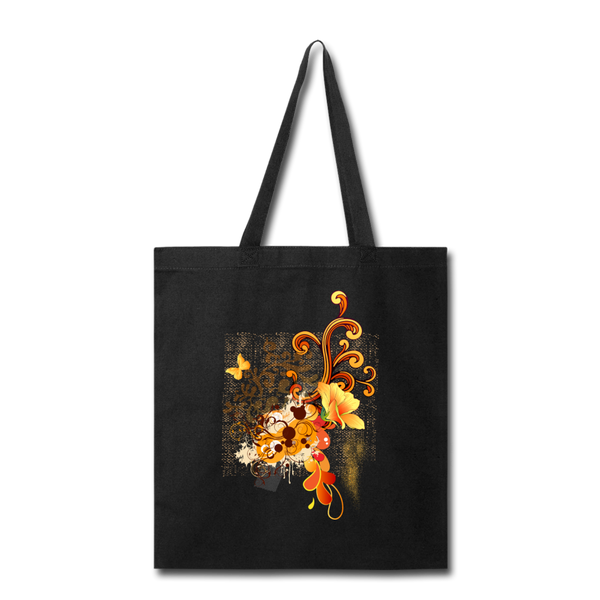 Swirl with Butterfly - Tote - black