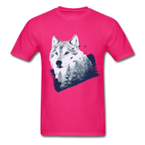 Wolf in the Forest - Men's - fuchsia