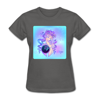 Virgo Lady on Blue - Women's - charcoal