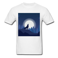 Wolf Howling at the Moon 2 - white