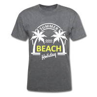 Summer Beach Holiday Design #3 - Men's Tee - mineral charcoal gray