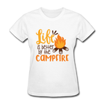 Life is Better Campfire - Women's - white
