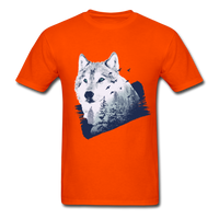 Wolf in the Forest - Men's - orange
