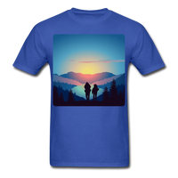 Backpackers at Sunset - Unisex - royal blue