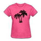 Palm Trees Silhouette - Women's Tee - heather pink