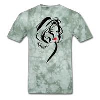 Woman with Red Lips - Men's - military green tie dye
