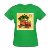 VW Bus Surfing - Women's - bright green