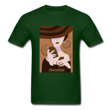 A Chocolate Eating Classy Lady - Men's - forest green