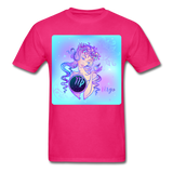 Virgo Lady on Blue - Unisex2 - fuchsia