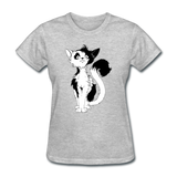Black Tailed Cat - Women's - heather gray