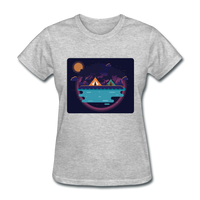 Camping on the Lake - Women's - heather gray