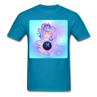 Pisces Lady on Blue - Unisex - turquoise