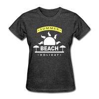Summer Beach Holiday Design #4 - Women's Tee - heather black