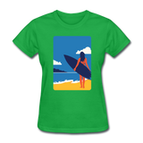 Lady with Surf Board - Women's - bright green