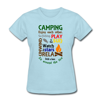 Camping Enjoy Each Other - Women's - powder blue