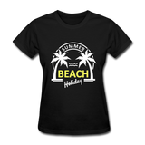 Summer Beach Holiday Design #3 Women's Tee - black