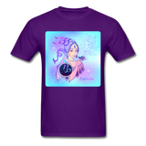 Capricorn Lady on Blue - Unisex - purple