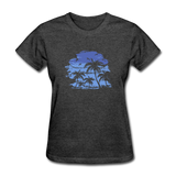 Palm Tees with Sky - Women's Tee - heather black