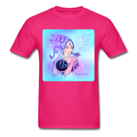 Capricorn Lady on Blue - Unisex - fuchsia