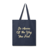 Be Aware - Tote - navy