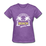 Summer Beach Holiday Design #3 Women's Tee - purple heather