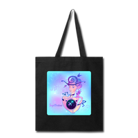 Sagittarius Lady on Blue - Tote - black