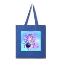 Virgo Lady on Blue - Tote - royal blue