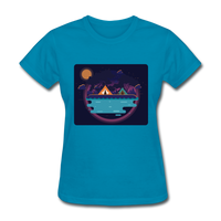 Camping on the Lake - Women's - turquoise