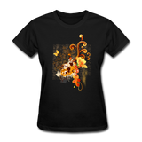 Swirls with Butterfly - Women's - black