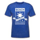 Beach Summer Holiday Design #2 - Men's Tee - mineral royal