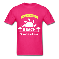 Summer Beach Vacation - Men's Tee - fuchsia