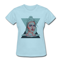 Lady Portrait - Alone - Women's - powder blue