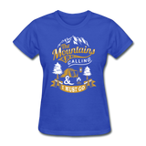 Mountains Calling Yellow - Women's - royal blue