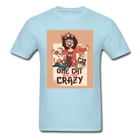 One Cat Away from Crazy - Men's - powder blue
