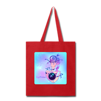 Sagittarius Lady on Blue - Tote - red