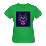 Colorful Dragon Face 2 - Women's - bright green
