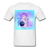 Virgo Lady on Blue - Unisex2 - white