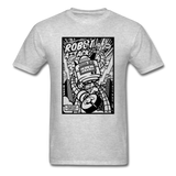 Robot Attack - Men's Tee - heather gray