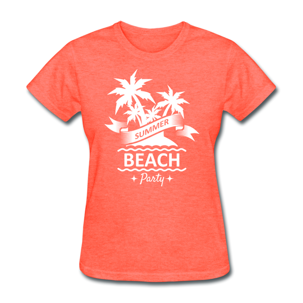 Summer Beach Party - Women's - heather coral