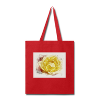 Yellow Rose Watercolor - Tote - red