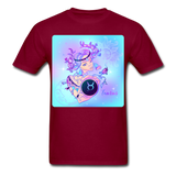 Taurus Lady on Blue - Unisex - burgundy