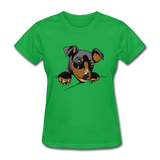 Cat in a Pocket - Women's - bright green