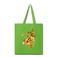 Swirl with Butterfly - Tote - lime green