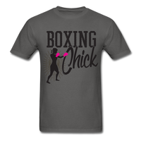 Boxing Chick - Unisex - charcoal