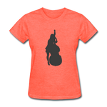 Lady with a Cello - Women's - heather coral